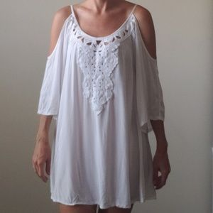 Solitaire White Swimsuit Cover-up